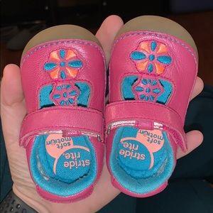 Stride Rite Hot Pink & Teal Maryjanes 3.5w